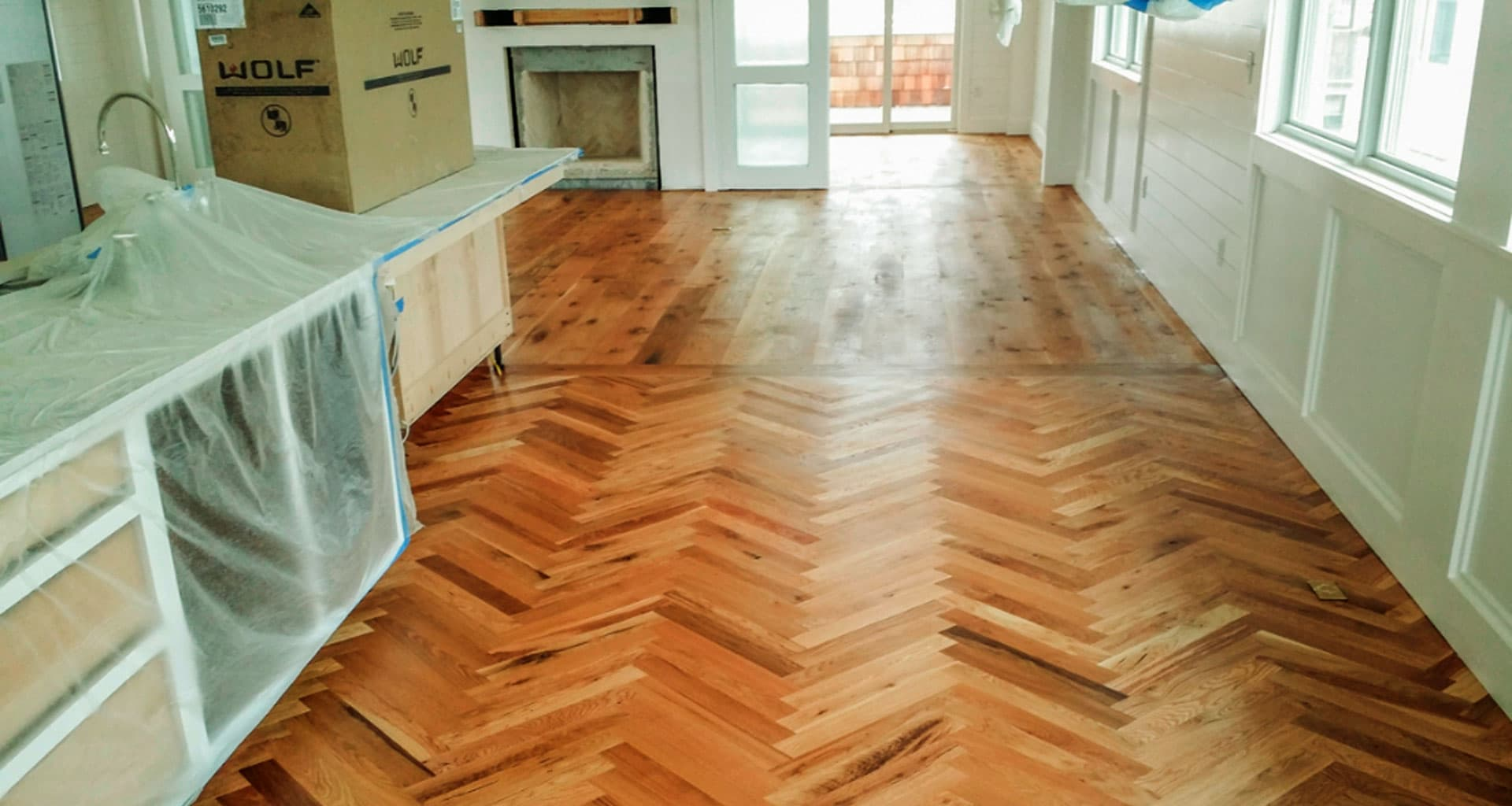white oak bone parquet - Laminate Flooring