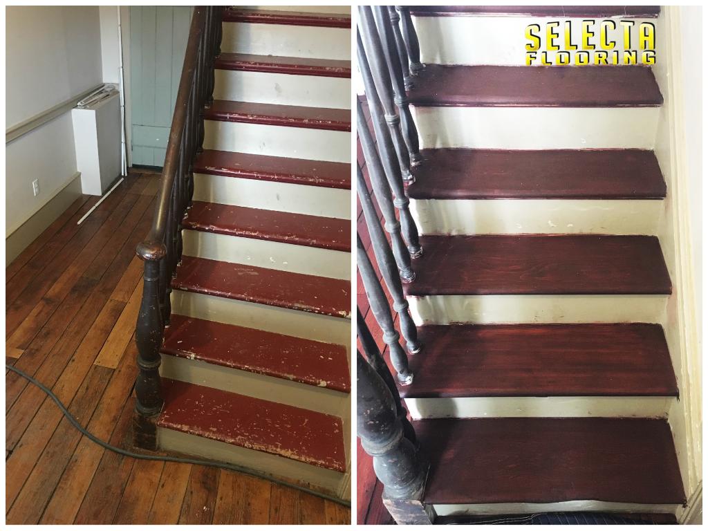 wood stairs flooring