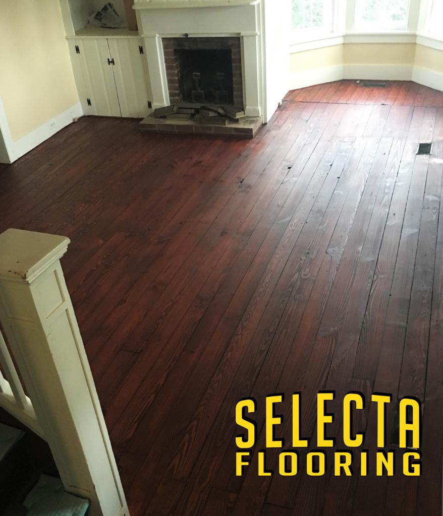 red brown wood floor