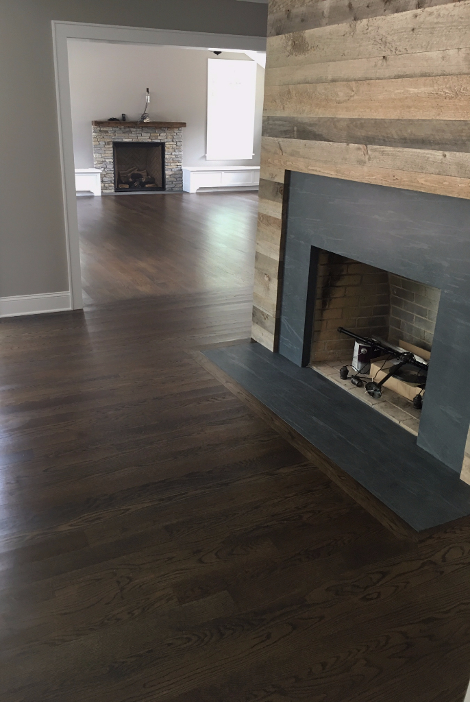 gray wood floor marble kitchen with gray walls union county new jersey