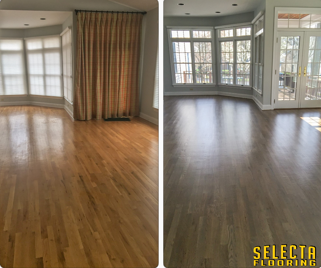 gray wood floors in Union County New Jersey
