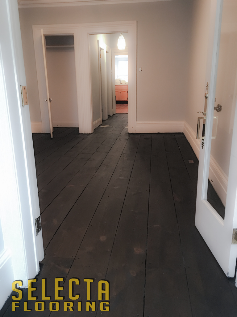 Gray wood floor white walls new jersey union county selecta flooring
