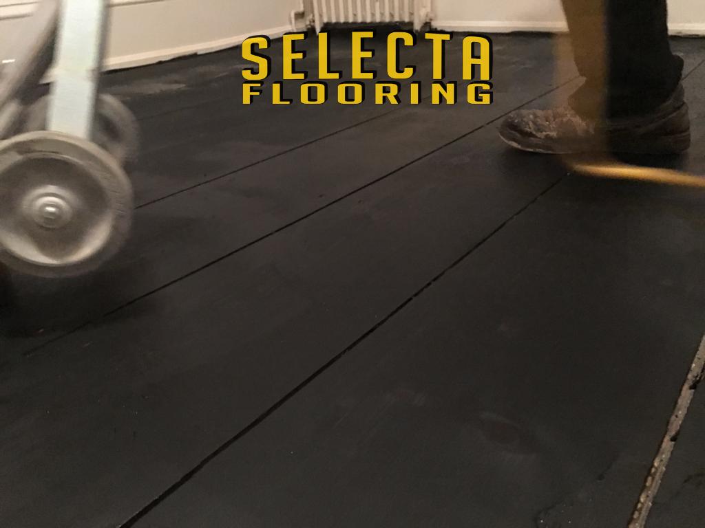 Gray wood floor union county selecta flooring