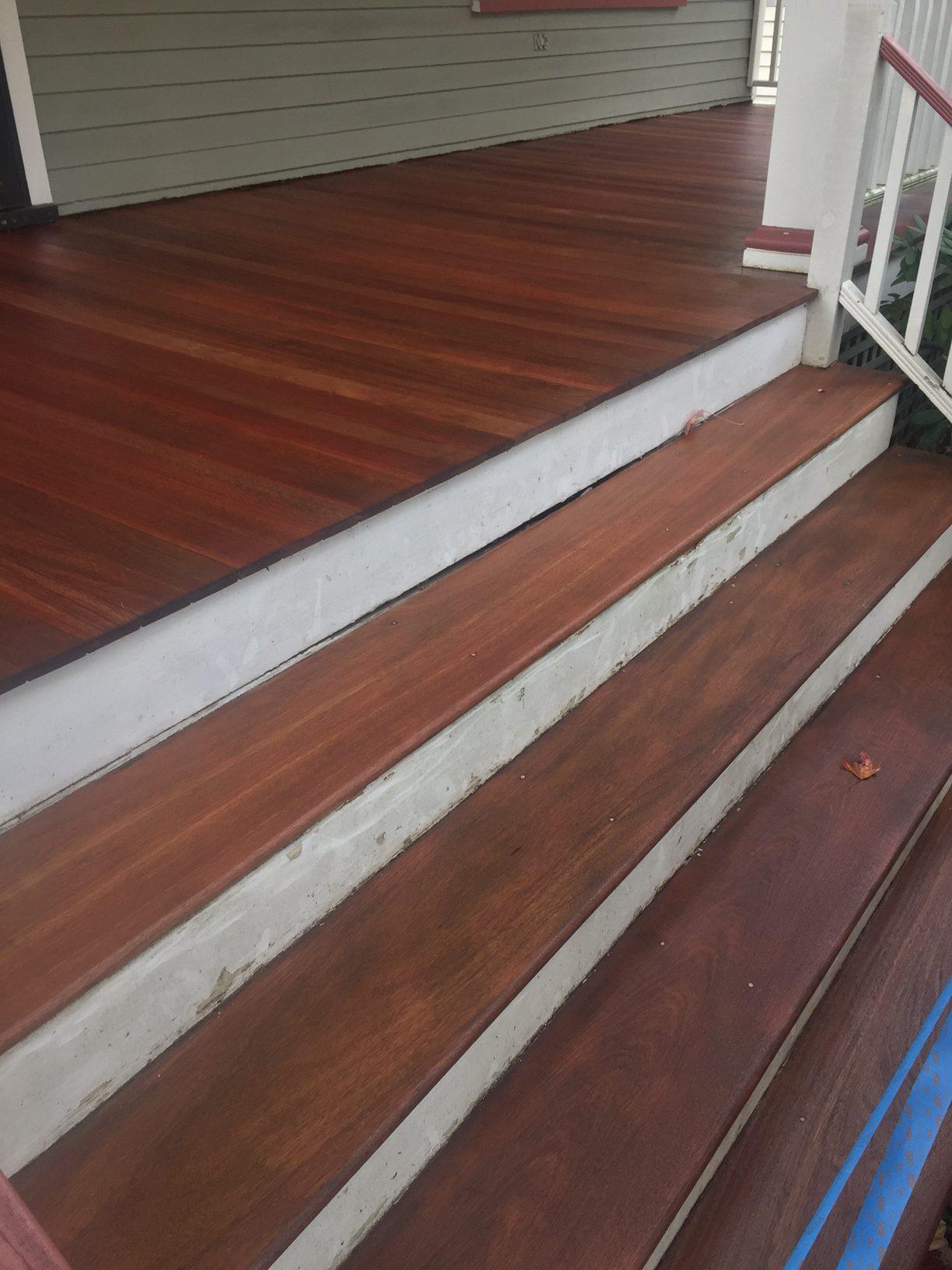 Rubio Monocoat Pure Exterior Wide Plank Mahogany Deck